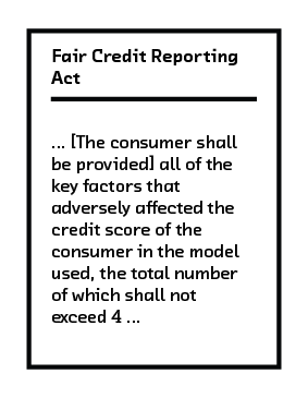 FIGURE 6.2 The Fair Credit Reporting Act requires the consumer be informed about key factors.